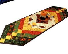 Autumn Braid Table Runner Quilt for Fall by QuiltSewPieceful