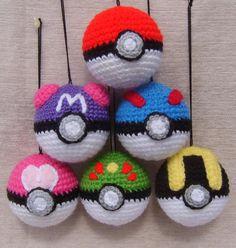 pokemon inspired crochet Baubles