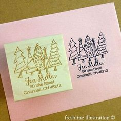 christmas stamps return address stamp wedding