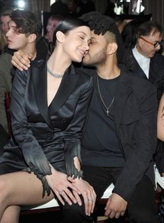 2016 - Bella Hadid with then boyfriend The Weeknd in happier times.