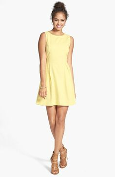 Frenchi® Textured Cotton Fit & Flare Dress (Juniors) available at #Nordstrom @Caitlin Hampton
