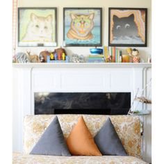 Triangle Pillows - Grey Corduroy via Etsy. Handmade Pillows, Decorative Pillows, Perfect Triangles, Cushion Inspiration, Triangle Pillow, Grey Throw Pillows, Geometric Decor, Home On The Range, Pillow Inserts