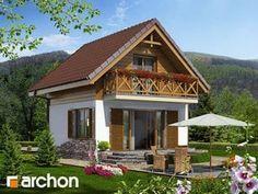 Projekt domu Domek letniskowy w krokusach - ARCHON+ Plan Chalet, Backyard Patio Designs, Home Fashion, Cabin, House Styles, Home Decor, Tiny Houses, Homemade Home Decor, Cabins