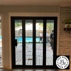 Sliding Patio Screen Door, Custom Screen Doors, Sliding Glass Door, Sliding French Doors, Window Screens, Modern Patio Doors, French Doors Patio, Farmhouse Patio Doors, Diy Exterior Door