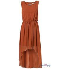 pomarańczowa sukienka Topshop asymetryczna wiosna/lato 2012 ❤ liked on Polyvore