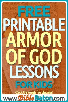 free printable Armor of God Sunday School or VBS lessons from the Bible for kids Bible Object Lessons, Bible Lessons For Kids, Bible For Kids, Sunday School Teacher, Sunday School Lessons, Sunday School Crafts, Family Bible Study, Bible Study Guide, Armor Of God Lesson