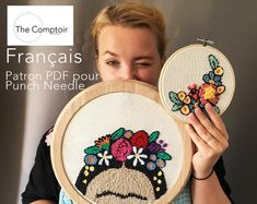 Loving Frida series – set of 2 punch needle PDF patterns – Rug making Punch Needle Kits, Punch Needle Patterns, Pdf Patterns, Embroidery Patterns Free, Embroidery Hoop Art, Embroidery Stitches, Monks Cloth, Running Stitch, Embroidery For Beginners