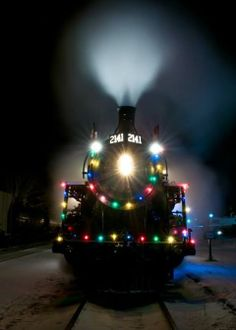 The Christmas train, next stop the North Pole.