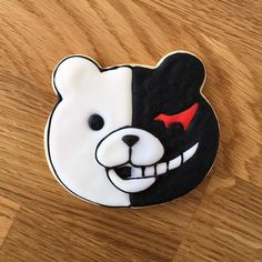 DanganRonpaMonokumaCookie !  Pu pu pu pu pu  ℹ Sablés decorated with royal icing (Super Red / White / Black) / Cookie cutter used Animal Face - Bear from my store >>> http://ift.tt/2rREpki # #homemade #sables #cookies #buttercookies #shortbread #biscuit #baking #anime #manga #animation  #food #instafood #yummy #otaku #nerd #foodart #anime #danganronpa #ダンガンロンパ #monokuma  #モノクマ #playstation #psp #psvita #game #videogames #gamer #gaymer #cutefood #foodart