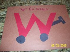 Letter w crafts Preschool and Kindergarten is part of Kids Crafts Preschool Alphabet Book - This page has a lot of letter w crafts for kids and teachers Teachers can use this pictures for different ideas Preschool Letter Crafts, Alphabet Letter Crafts, Abc Crafts, Preschool Projects, Alphabet Book, Classroom Crafts, Preschool Learning, Preschool Activities, Letter Art
