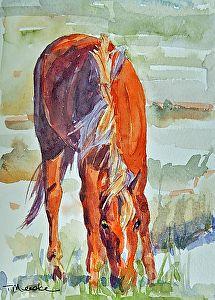 Summer Breeze by Tammy Meeske Watercolor ~ 7 x 5