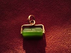 Victorian gold/nephrite jade fob watch pendant