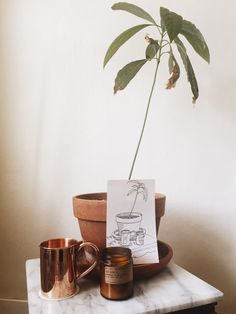 copper mug marble ta