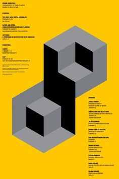 UTSoA Spring Lecture Series Poster - Graphis