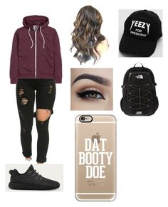 """""""Untitled #197"""" by ilianavaldez on Polyvore featuring H&M, adidas, The North Face, Casetify, men's fashion and menswear"""
