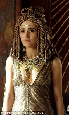 Lyndsey Marsha Cleopatra in the TV series Rome