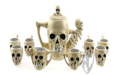 Skull Tea Set this is fucking awesome