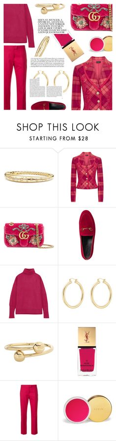 """""""once upon a time"""" by sugaplump ❤ liked on Polyvore featuring David Yurman, La Perla, Gucci, Maison Margiela, Isabel Marant, J.W. Anderson, Yves Saint Laurent, Paul Smith, AERIN and Whiteley"""