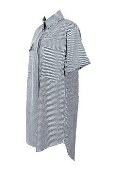 Vestido Camisão Listrado
