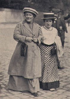 Clara Zetkin (left) and Rosa Luxemburg (right) in a 1910 picture. Zetkin (1957-1933)  was a German Marxist theorist, activist, and advocate for women's rights. In 1911, she organized the first International Women's Day. Luxemburg (1871-1919) was a Marxist theorist, philosopher, economist and revolutionary socialist.