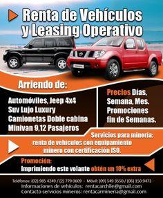 Promociones,Ofertas,Descuentos,Rent a Car,Transportes y Turismo en Santiago de Chile,Contacto:rentacarchile@gmail.com
