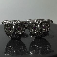 Purple Eyed Owl Cufflinks... Another one of my favs