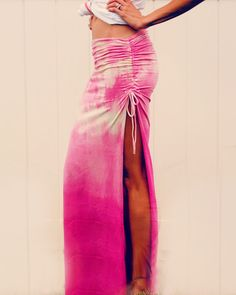 DIY ruched maxi skirt.