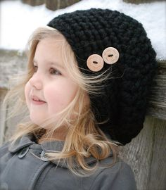 Chunky with buttons Beret Enfant be9788f7627