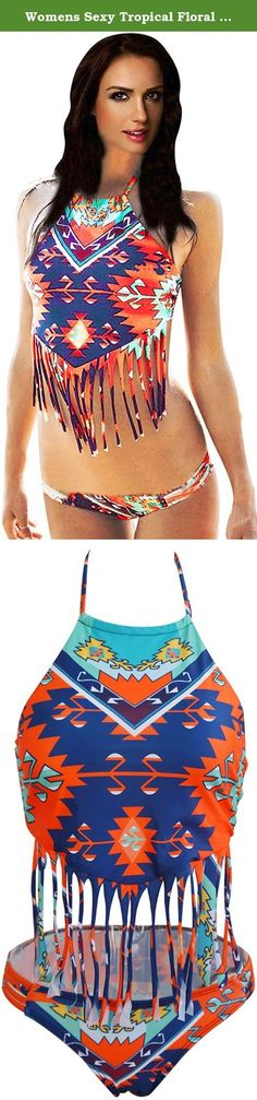 e1810f4126d Womens Sexy Tropical Floral Print Two Piece Bikini Set. 100% Brand New and  High
