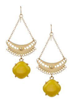 Citron Chandelier Earrings