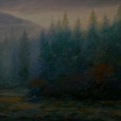 A recent oil by William Webster.
