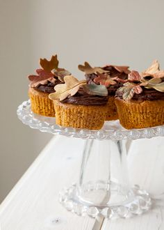 Cake It Pretty: How To Make Fall Sugar Leaves - Cupcake Daily Blog - Best Cupcake Recipes .. one happy bite at a time! Chocolate cupcake rec...
