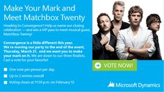 Win a VIP Pass to Meet Rob Thomas & Matchbox Twenty at Convergence 2013 Vip Pass, Rob Thomas, Matchbox Twenty, Shout Out, How To Become, Juices, Meet, Names, Opportunity