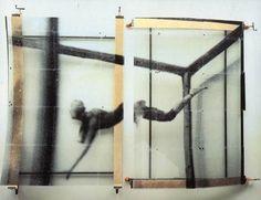 """starn twins (doug & mike starn) - """"bull jumper"""", 1989, """"bull jumper"""", silkscreen plastic plexiglas clamps."""