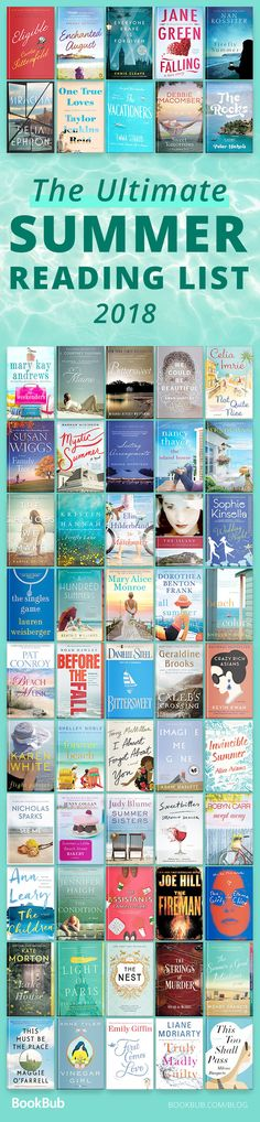 This ultimate summer and beach reading list from 2018 is perfect for women. These novels are light and easy, have romance and funny scenes.