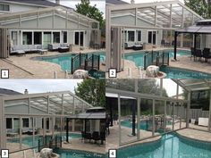 we manufacture fixed pool enclosures retractable pool enclosures