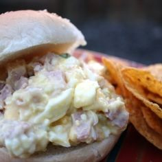 Melissa's Cuisine: Ham and Egg Salad- perfect for a summer lunch or picnic Pork Recipes, Lunch Recipes, Cooking Recipes, Sandwich Recipes, Summer Recipes, Salad Recipes, Healthy Recipes, Salad Menu, Tuna Salad