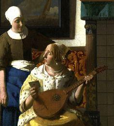 Détail d'une lettre d'amour de Vermeer