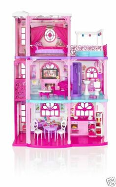 $193:  Barbie 3 Story Dream Townhouse Furniture Accessories Toy Doll House Girls Play | eBay