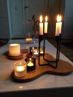 Finland, Iittala kivi fire candles, designer Heikki Orvola and Iittala Aalto Oak Serving Trays, designer Alvar Aalto Scandinavian Lighting, Scandinavian Design, Lantern Candle Holders, Candle Lanterns, High Bay Led Lighting, Fire Candle, Alvar Aalto, Candels, Decoration Table