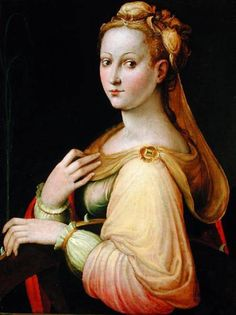 St. Catherine of Alexandria, Barbara Longhi. Italian High Renaissance Painter, (1552-1638)