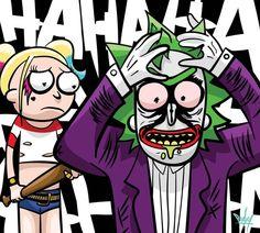 Rick and Morty x The Joker & Harley Quinn
