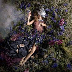 """Australian artist Alexia Sinclair looked to the French royal court for inspiration for her latest photo series, """"Rococo,"""" currently on view at Black Eye Gallery in Darlingh… Body Photography, Fantasy Photography, Fashion Photography, Photography Ideas, Delphinium, Rococo Fashion, Fashion Art, Foto Fantasy, Sinclair"""