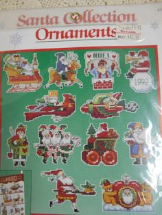 Charles Wysocki SANTA COLLECTION ORNAMENTS Counted Cross Stitch Kit SEALED  #Dimensions #ChristmasTreeOrnaments
