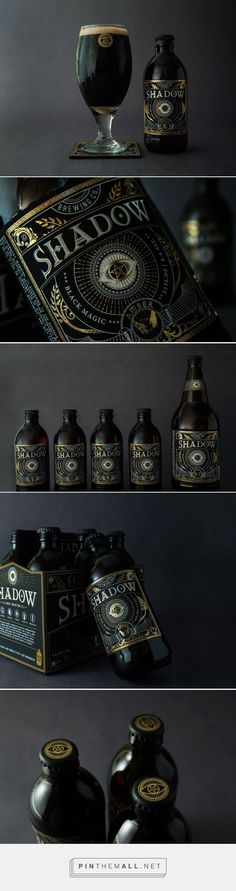 Shadow Beer concept packaging designed by Zoey Chung - http://www.packagingoftheworld.com/2015/09/shadow-beer-student-project.html: