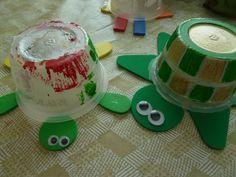 Applesauce cup turtles
