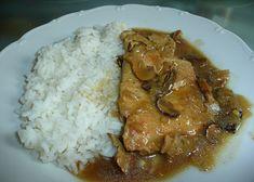 Přírodní vepřová kotletka na houbách recept - TopRecepty.cz Curry, Pork, Rice, Beef, Chicken, Cooking, Ethnic Recipes, Style, Kale Stir Fry