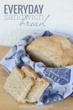 This basic sandwich bread recipe is soft, fairly healthy, and freezes really well. It`s not that hard to make either! Let the bread machine do most of the work, then finish baking those yummy loaves in the oven. They make perfectly sized sandwiches for adults and kids!