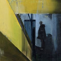 Brett Amory Waiting #189  2013 Oil on Wood 30X30 inches