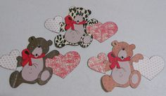 Pam's Paper Piecings: Bear with Hearts